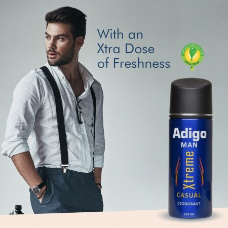 Adigo Xtreme Casual Deodorant Body Spray 165ml PACK of 2