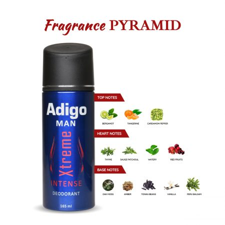 Adigo Xtreme Intense Deodorant Body Spray Pack of 2