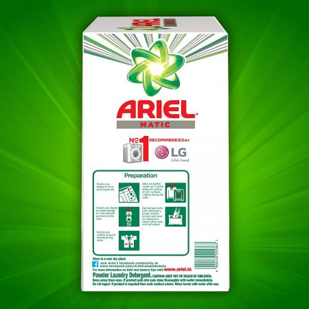 Ariel Matic Front Load Washing Powder 4kg + 2kg free
