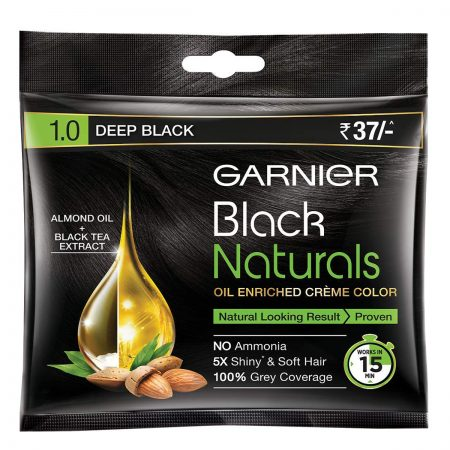 Garnier Black Naturals Shade 1.0 Deep Black (20ml + 20g)