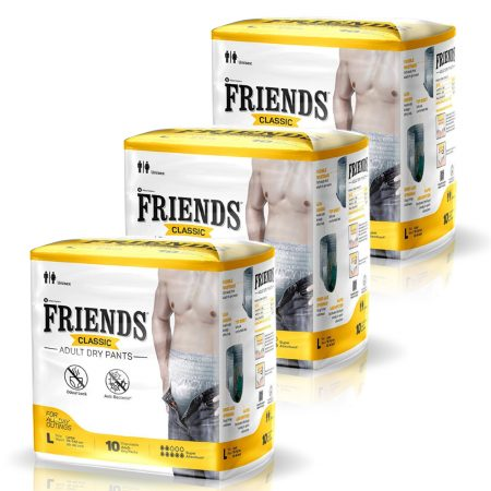 Friends Classic Adult Dry Pants Large Size 10 Pcs (Pack of 3)