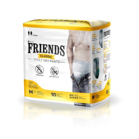 Friends Classic  Adult Dry Pants Medium Size 10 Pcs