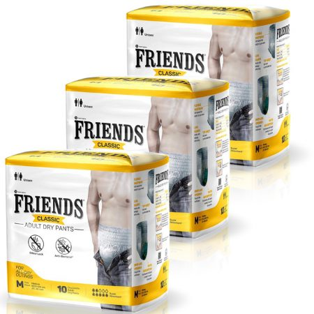 Friends Classic Adult Dry Pants Medium Size 10 Pcs (Pack of 3)