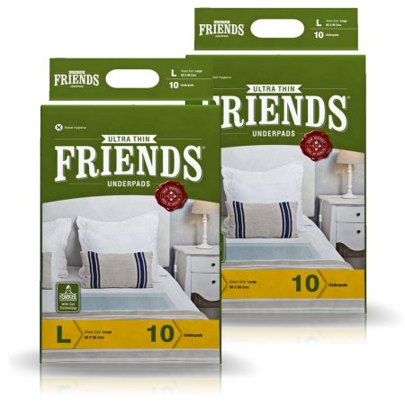 Friends Classic Underpads Large Size 10 Pcs (Pack of 2)