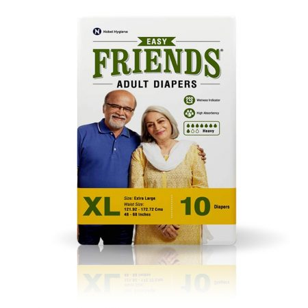 Friends Easy Adult Diapers Extra Large Size 10 Pcs