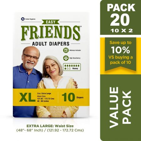 Friends Easy Adult Diapers 10 pcs Extra Large 20 Pcs