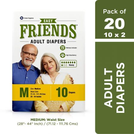 Friends Easy Adult Diapers 10 Pcs (Pack of 2)