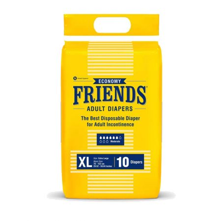 Friends Economy Adult Diapers Extra Large 10Pcs
