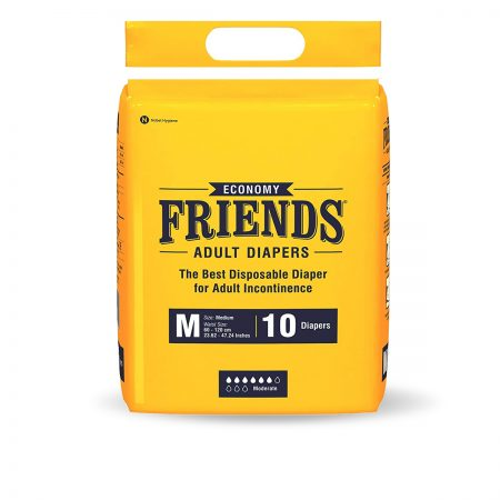 Friends Economy Adult Diapers Medium Size 10 Pcs