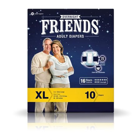 Friends Overnight Adult Diapers 10 Pcs