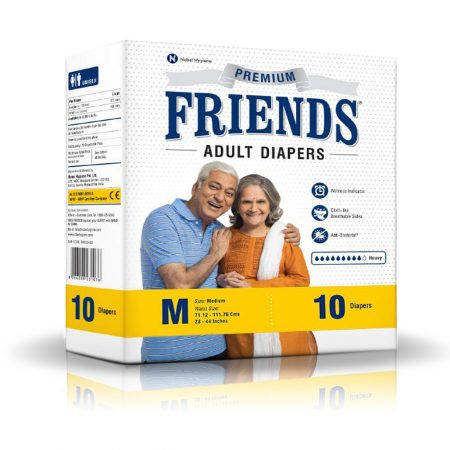Friends Premium Adult Diapers 10 Pcs
