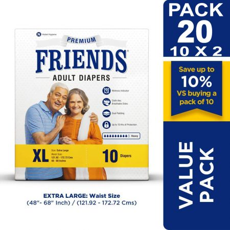 Friends Premium Adult Diapers 20 Pcs