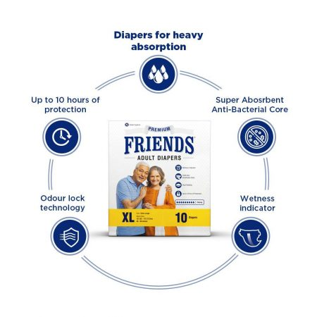 Friends Premium Adult Diapers Large