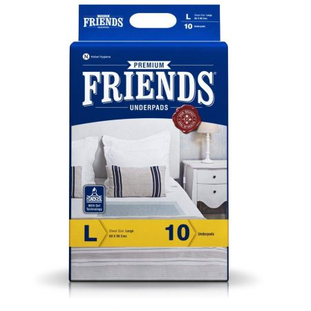 Friends Premium Underpads Large Size 10 Pcs