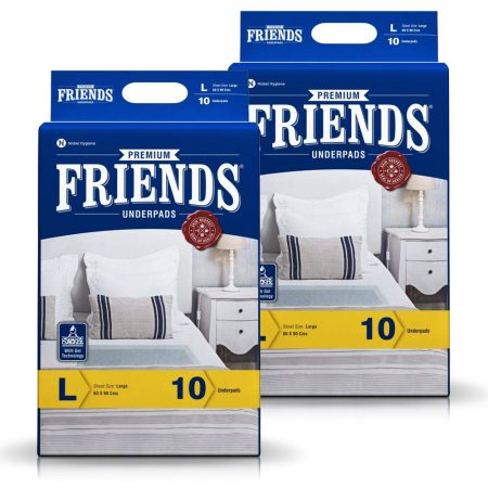 Friends Premium Underpads Large Size 10 Pcs (Pack of 2)