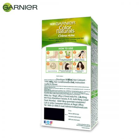 Garnier Color Naturals Shade 1 Natural black 70ml + 60g