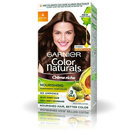 Garnier Color Naturals Shade 4 Brown 70ml + 60g