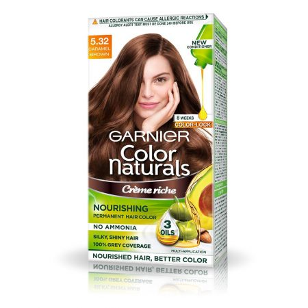 Garnier Color Naturals Shade 5.32 Caramel Brown 70ml + 60g
