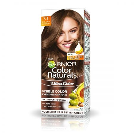Garnier Color Naturals Shade 7.3 Golden Brown 55ml + 50g