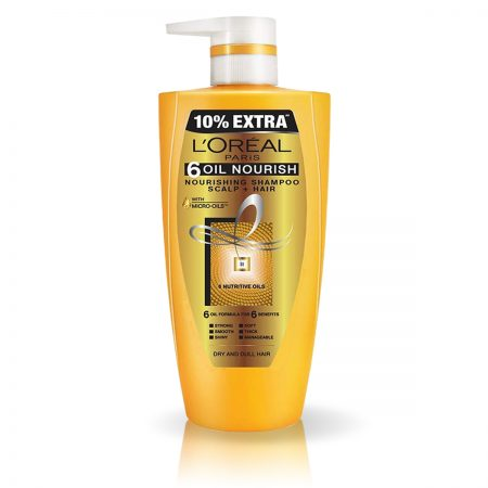 L'Oreal Paris 6 Oil Nourish Shampoo (704 ml)