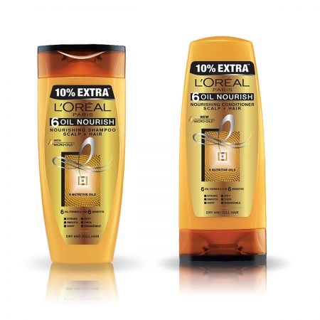 L'Oreal Paris 6 Oil Nourish Shampoo & Conditioner 192.5 ml + 192.5 ml