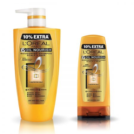 L'Oreal Paris 6 Oil Nourish Shampoo & Conditioner 704 ml + 192.5 ml