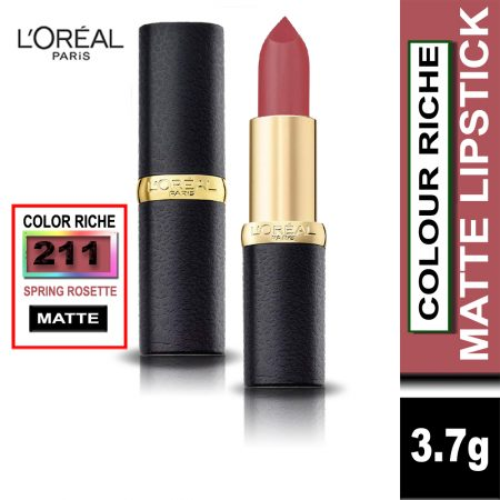 L'Oreal Paris Color Riche Moist Matte Lipstick (211 Spring Rosette)