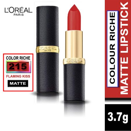 L'Oreal Paris Color Riche Moist Matte Lipstick (215 Flaming Kiss)
