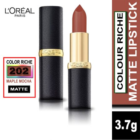 L'Oreal Paris Color Riche Moist Matte Lipstick (202 Maple Mocha)