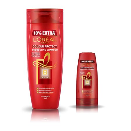 L'Oreal Paris Colour Protect Shampoo & Conditioner 396 ml + 71.5 ml (Combo)