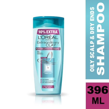 L'Oreal Paris Extraordinary Clay Shampoo (396 ml)