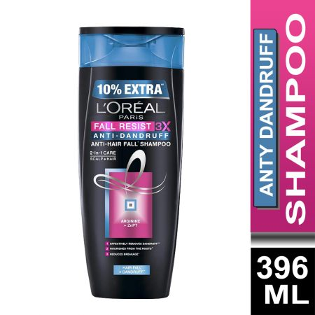 L'Oreal Paris Fall Resist 3X Anti-Dandruff Shampoo (396 ml)