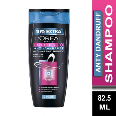 L'Oreal Paris Fall Resist 3X Anti-Dandruff Shampoo (82.5 ml)