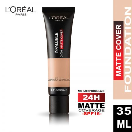 L'Oreal Paris Infallible 24 Hr Matte Cover Foundation (103 Fair Porcelain)