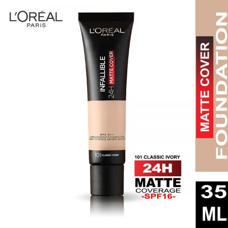 L'Oreal Paris Infallible 24h Matte Cover Foundation (101 Classic Ivory)