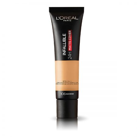 L'Oreal Paris Infallible 24h Matte Cover Foundation (106 Sun Beige)