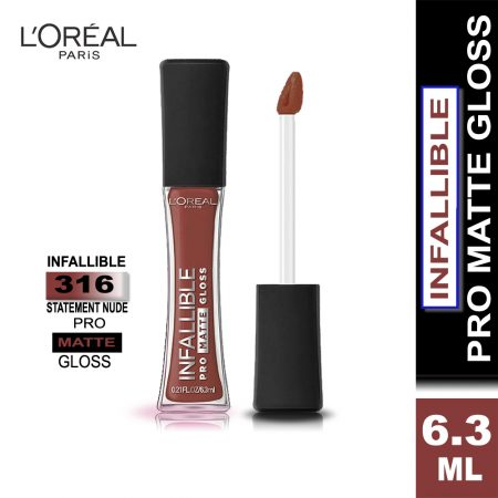 L'Oreal Paris Infallible Pro Matte Gloss (316 Statement Nude)