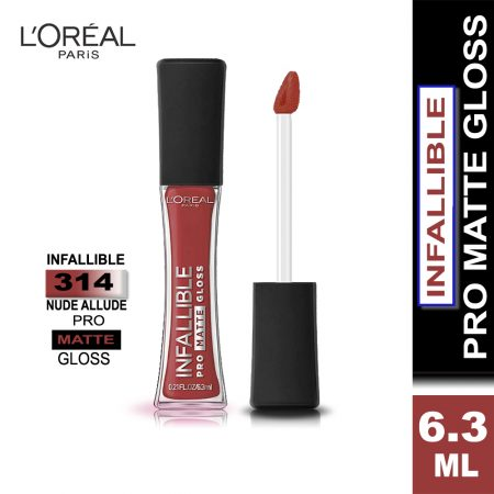 L'Oreal Paris Infallible Pro Matte Gloss (314 Nude Allude)