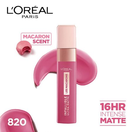 L'Oreal Paris Infallible Ultra Matte Liquid Lipstick Les Macarons (820 Praline of Paris)