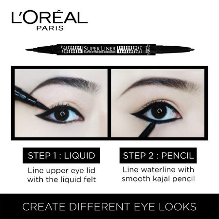 L'Oreal Paris Super Liner Superstar Duo Designer Eyeliner Black