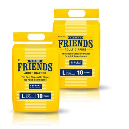 Friends Economy Adult Diapers 10 Pcs (Pack of 2)