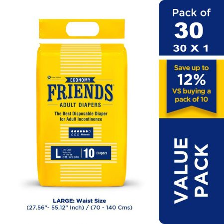 Friends Economy Adult Diapers 10 Pcs (Pack of 3)