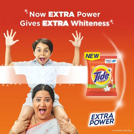Tide Plus Extra Power Detergent Washing Powder 500g