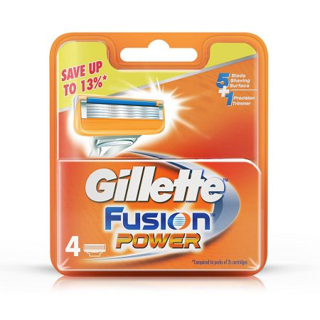 Gillette Fusion Power shaving Razor Blades Cartridges 4 Units