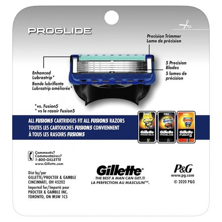 Gillette Fusion Proglide – Flexball Shaving Razor Blades Cartridge, 8 Pcs
