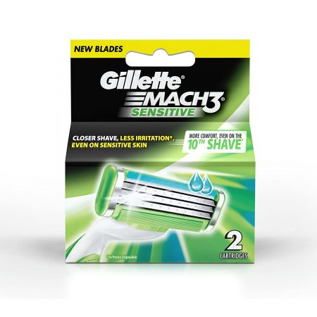 Gillette Mach 3 Sensitive Manual Shaving Razor Blades