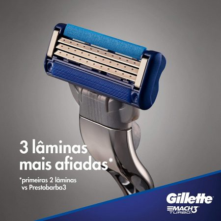 Gillette Mach 3 Turbo Shaving Razor Blades Cartridges Pack of 4