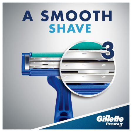 Gillette Presto 3 Disposable Razor for Men