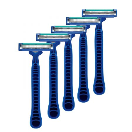 Gillette Presto 3 Disposable Razor for Men Pack of 5