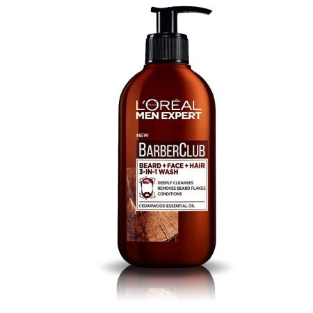 L'Oreal Men Expert Barber Club Beard + Face + Hair, 3-In-1 Wash, (200 ml)